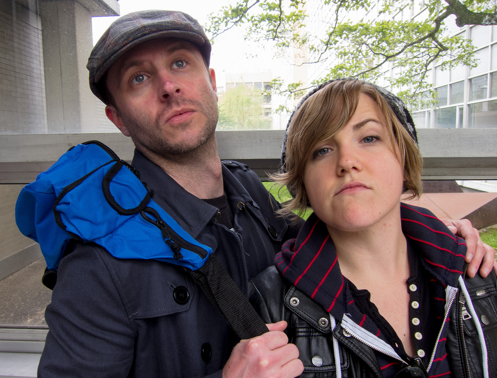 Chris Hardwick and Hannah Hart